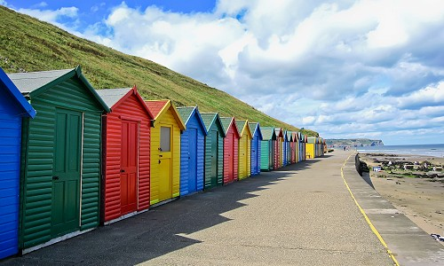 Whitby's Colourful Beach Huts